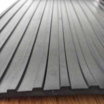 Durable using low price corrugated rubber sheet mat