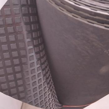 Long length walkway rubber sheet diamond pattern floor mat