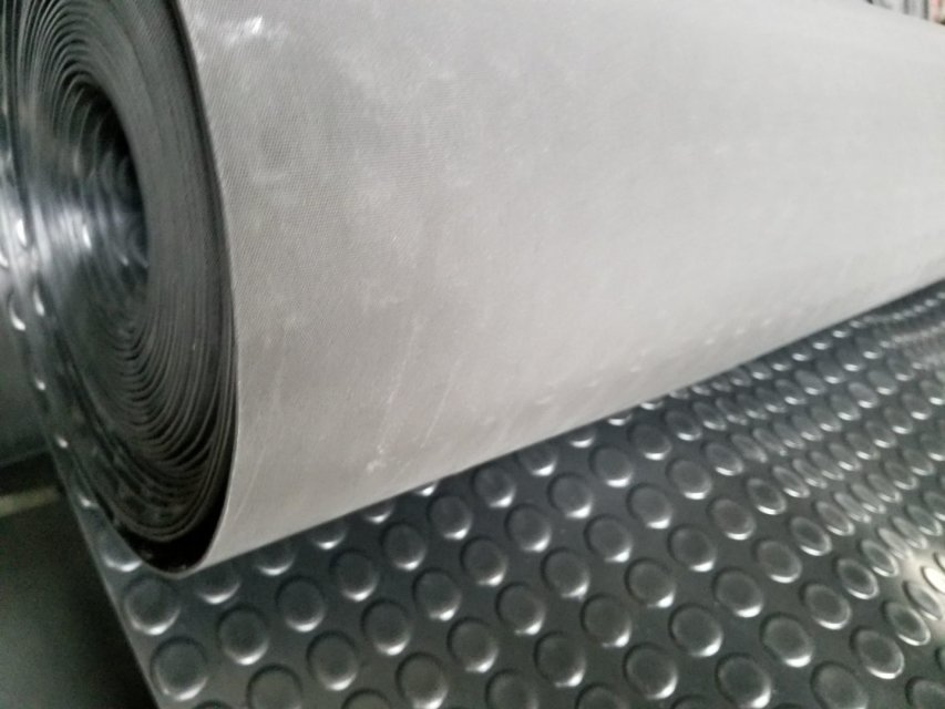 Surface round button anti slip rubber sheet flooring mat