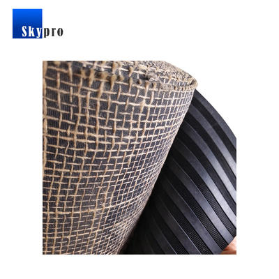 China factory custom high quality rubber sheet with mesh fabric