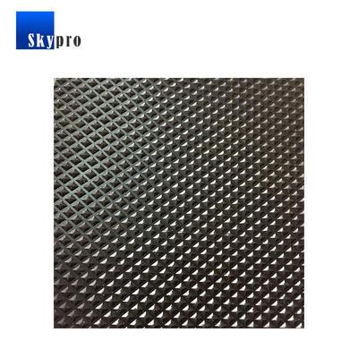 Pyramid textured rubber sheet black anti-skidding diamond rubber floor mat