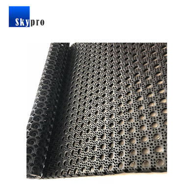 Outdoor water drain anti-slip holes rubber mat for wet area