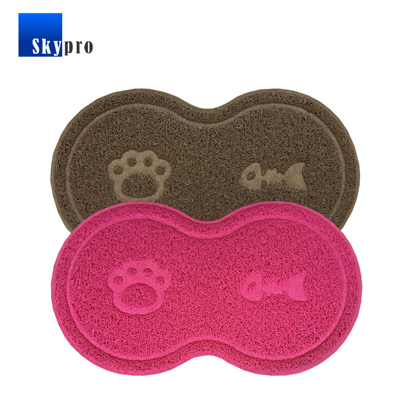 Customized large size eco-friendly mats for dog litter, easy clean fabric cover rubber mats