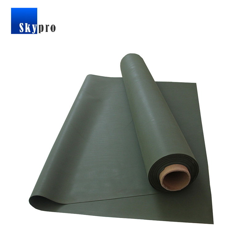 Glossy Rubberized Cloth Waterproof Durable Hypalon Coated Textile Fabric