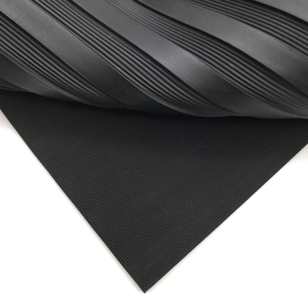 Anti-Slip Rubber Mat / Wide Ribbed Rubber Sheet