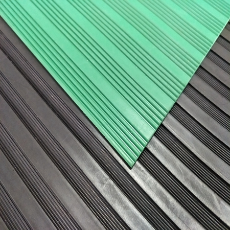Anti Slip Wide Fine Thin Narrow Ribbed Corrugated Rubber Floor Mat For Workshop