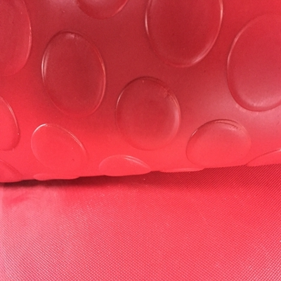 Red Round Stud Rubber Sheets Mats