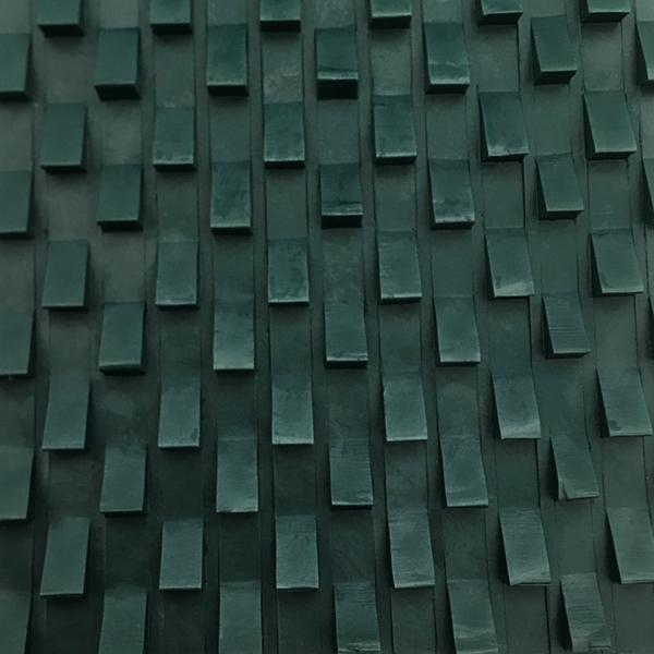 PVC blackish green saw tooth rock conveyor belt