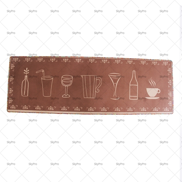 Wholesale non slip waterproof custom print rubber door mat