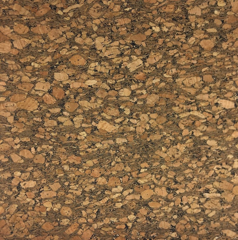 Wood surface 0.4mm natural cork real cork leather sheet for making bags