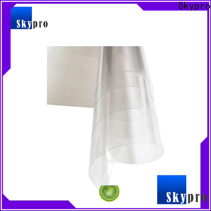 transparent plastic film roll