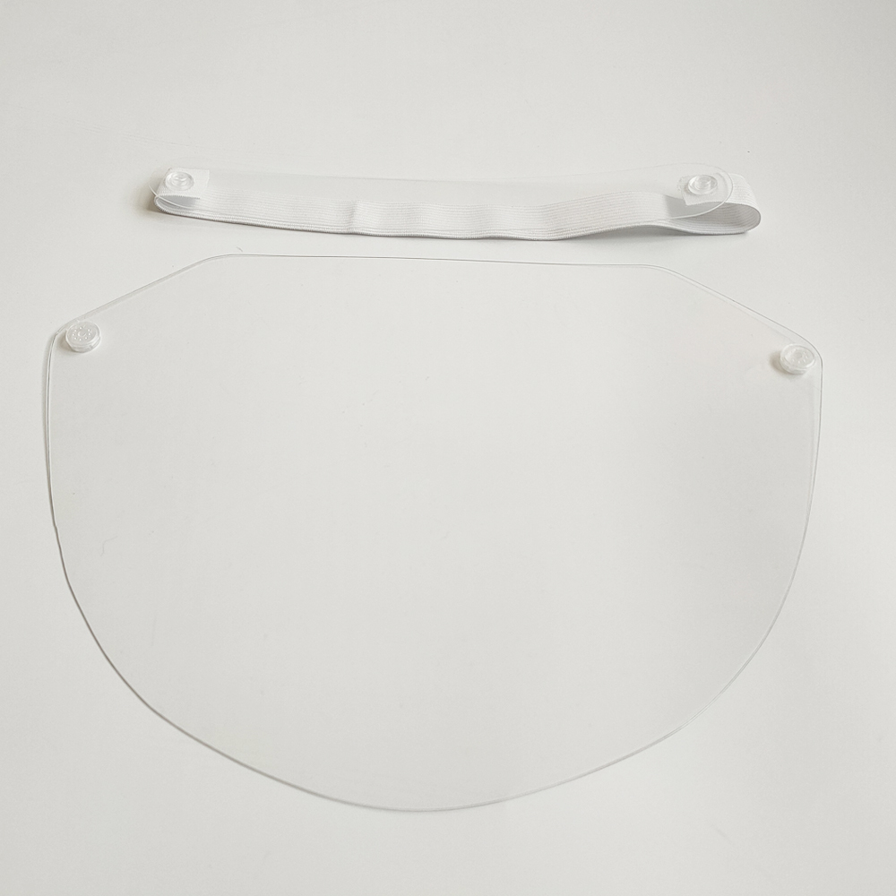 Transparent Clear Breathable Windproof Dustproof Disposable Face Shield