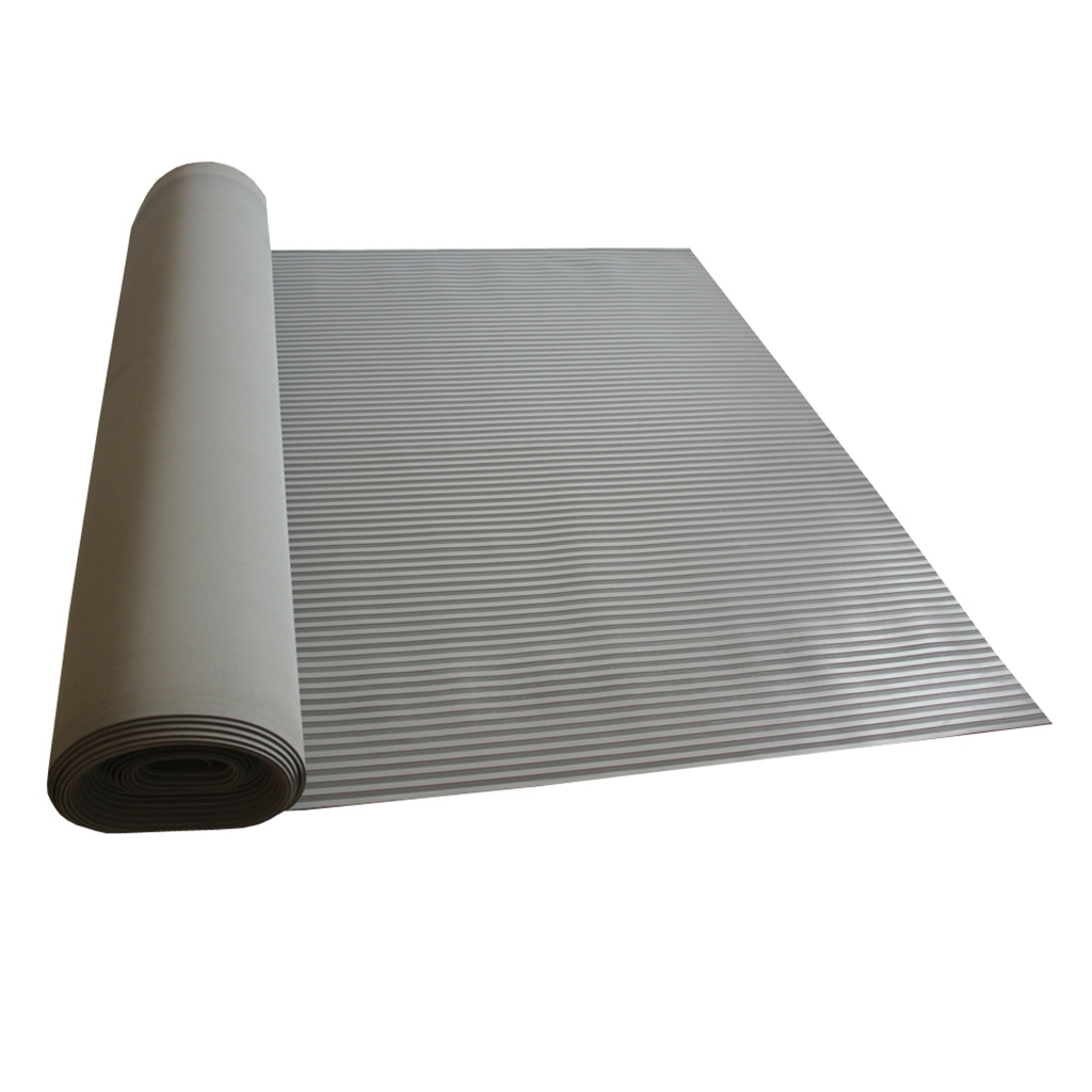 Anti Slip Fine Thin Ribbed Corrugated Rubber Sheet/Mat/Flooring Roll