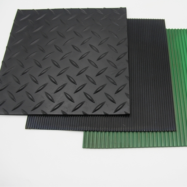 Customized embossed black mat SBR/CR/NBR rubber sheet for gasket