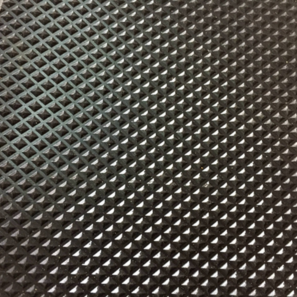 Black Pyramid Design Acid Resistant Indoor Anti-slip Gym Rubber Flooring Sheet Rolls