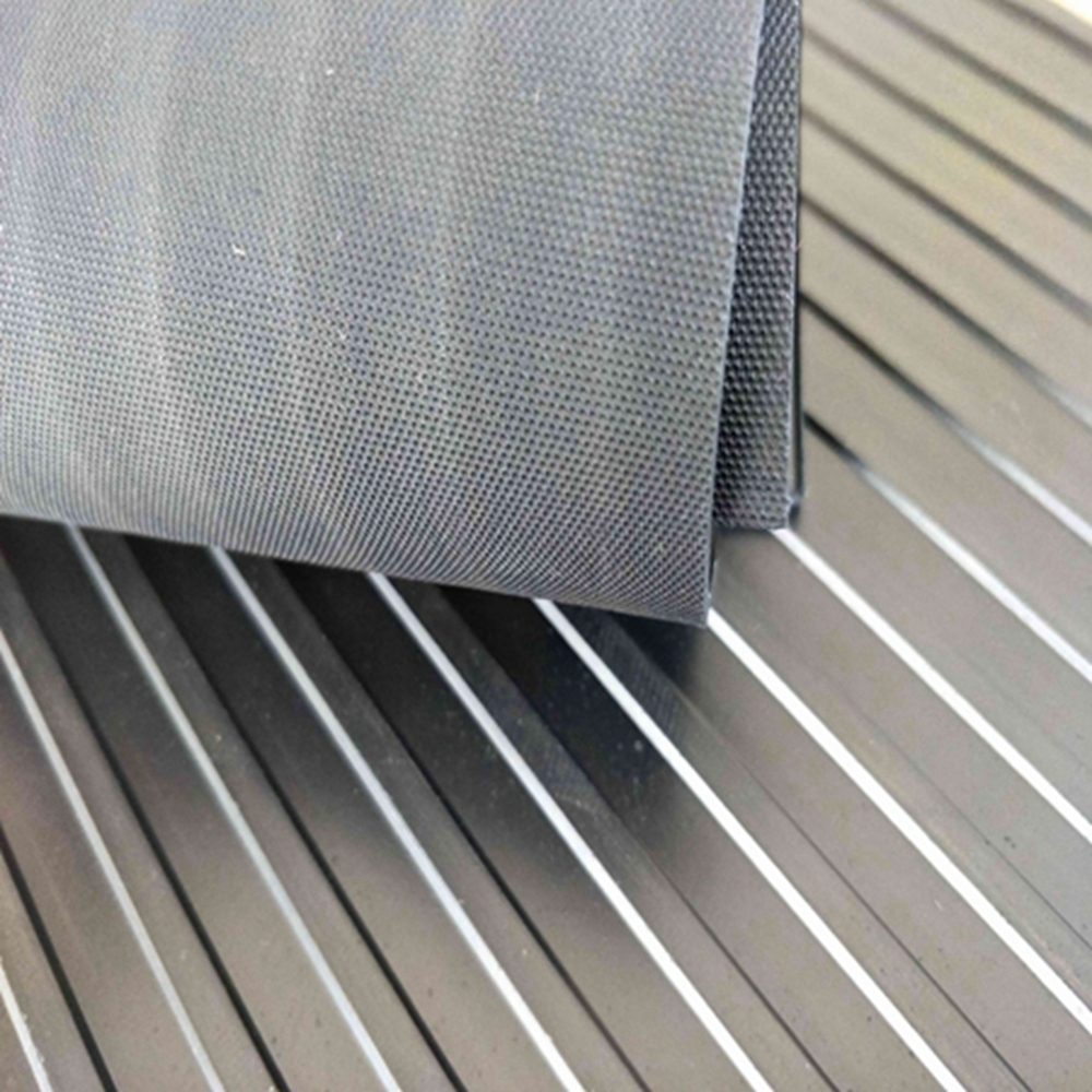 Non-skid Rubber Sheet/ Anti-Slip Black Wide Ribbed Rubber Mats Flooring Sheets Rubber Mats