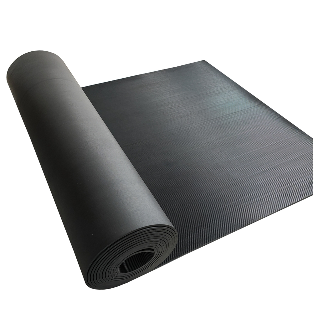 Wholesale pinstripe industrial rubber sheet anti-skid and shock absorption