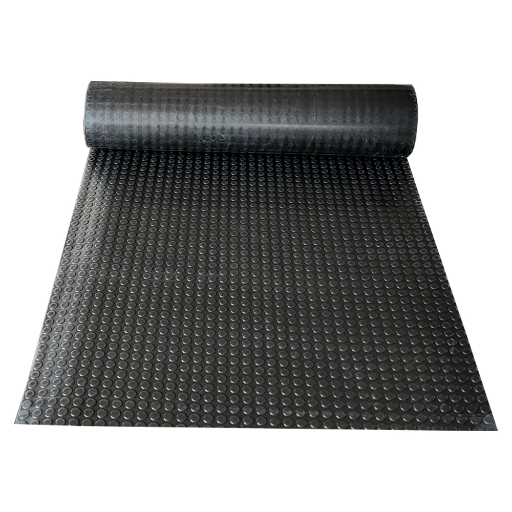 Rubber Sheet Heavy Duty Flooring Gasket Solid Surface Coin Round Stud Rubber Sheet Roll Smooth Embossed Surface Neoprene