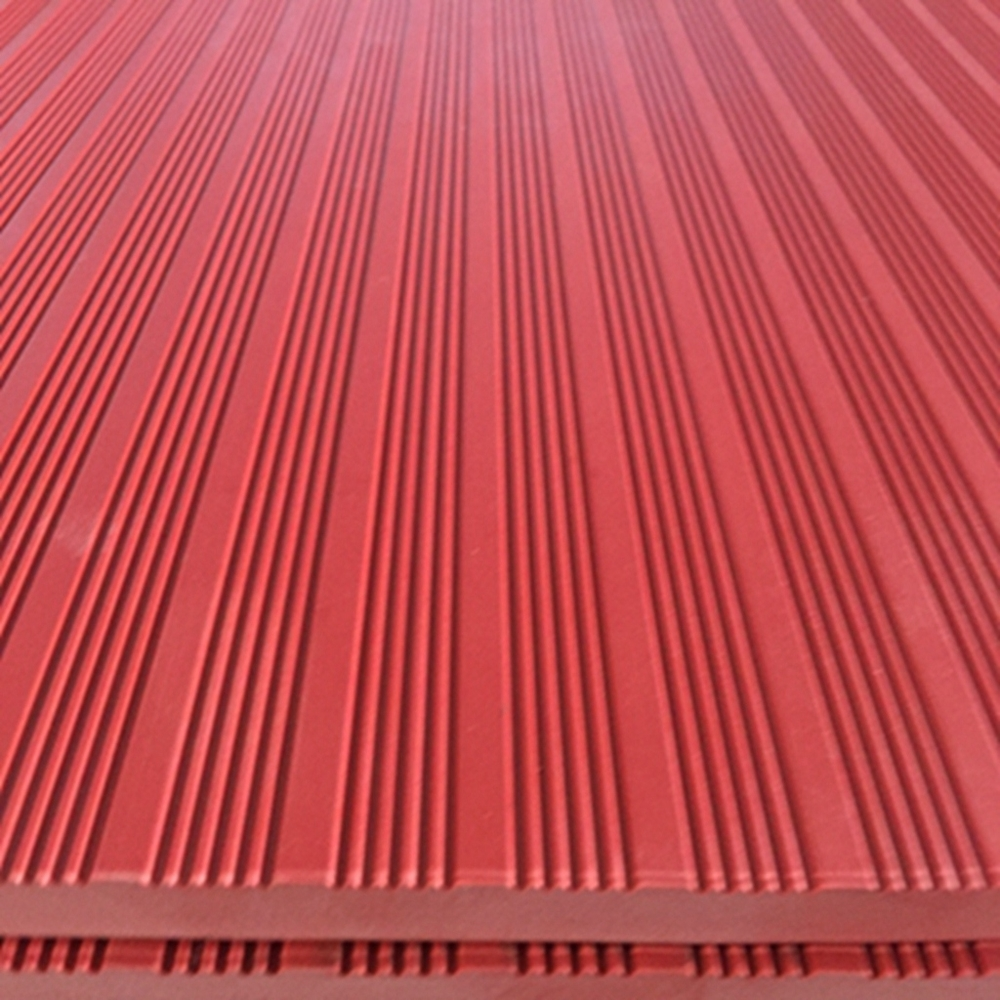 Professional Anti-slip Insulation Red Safety Rubber Mat Sheet