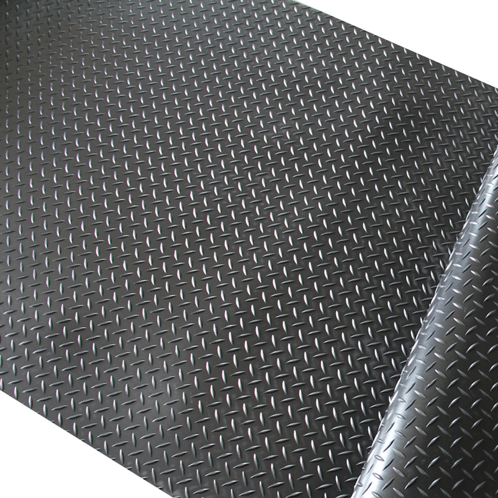 Protect floor durable anti slip willow leaf diamond mat rubber sheet