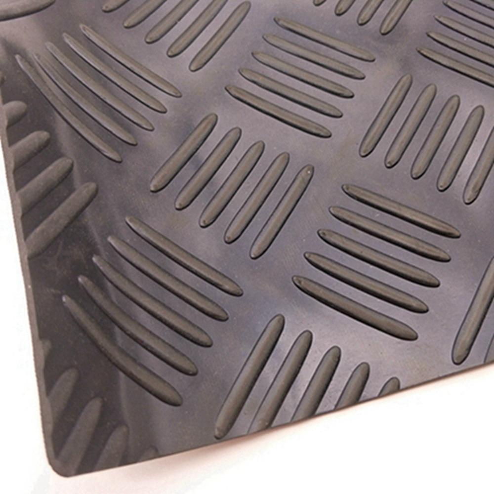 Five Bar Checker Patterned Rubber Flooring Matting For Garage, Van Or Car Roll Mat