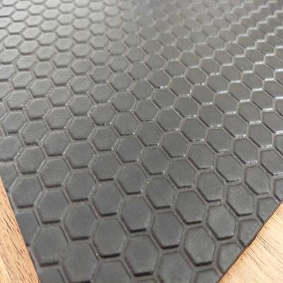 Factory direct sale black honeycomb hexagon customized rubber interlocking flooring cow mat