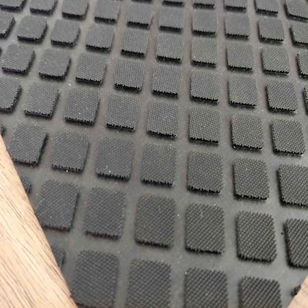 Durable Non-slip Rubber Sheet Rhombus Black Rubber Mat