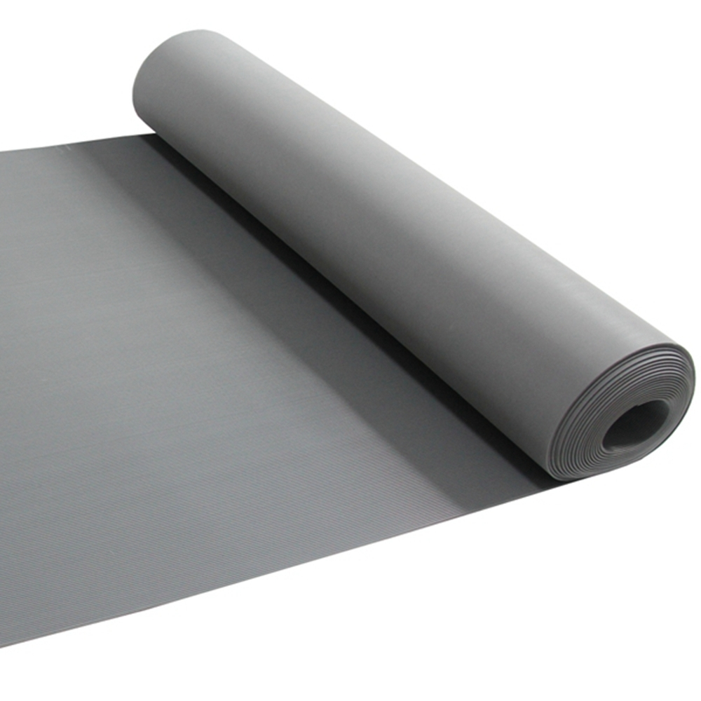 High quality anti-slip gray  transverse ribber rubber mat roll for flooring