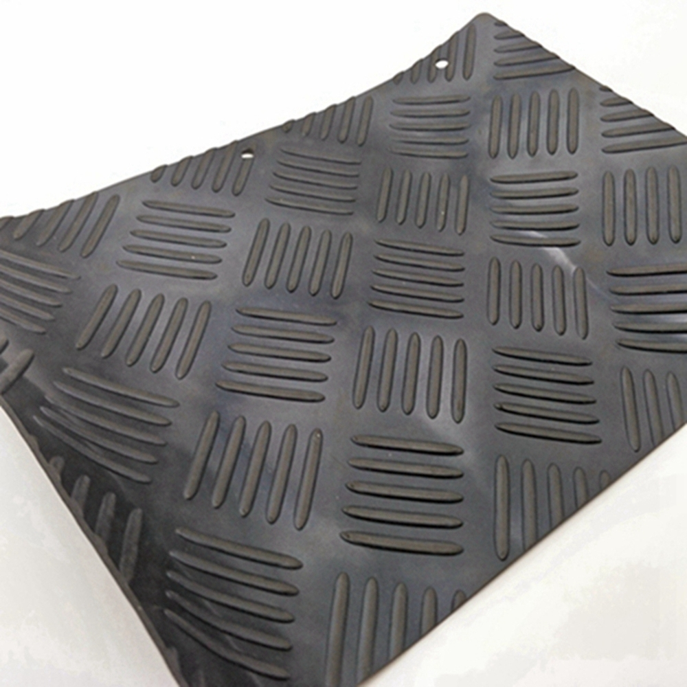 Checker Plate Five Bar Anti Slip Vulcanized Rubber Sheet