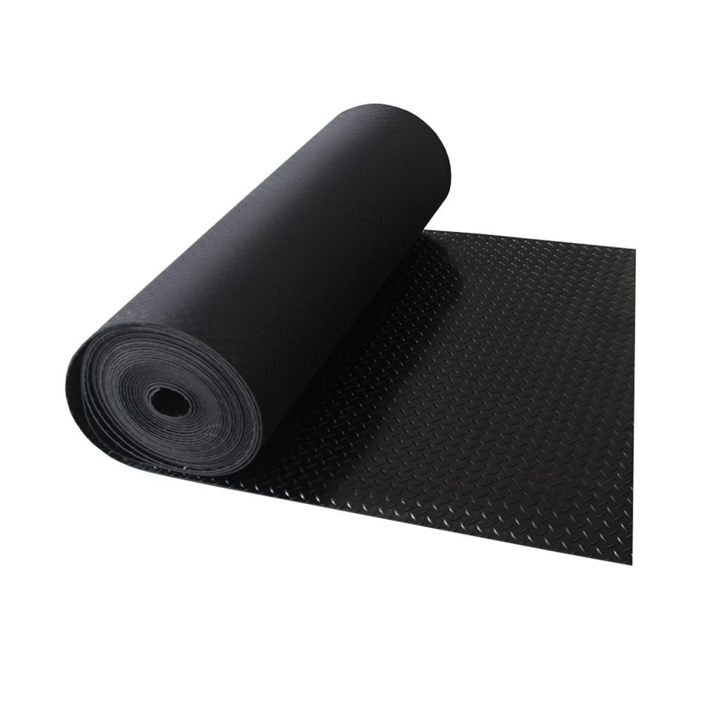 Black insulated willow leaf rubber plate anti-slip rubber sheet