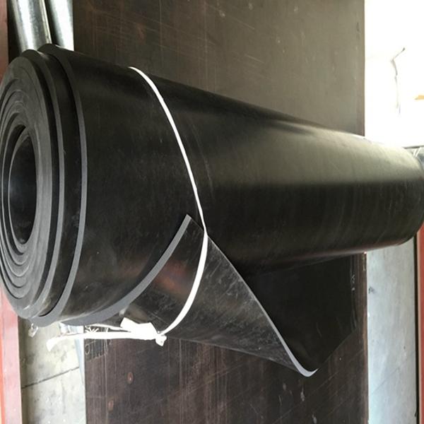 55 Shore A Black EPDM Non Slip Industrial Rubber Sheeting