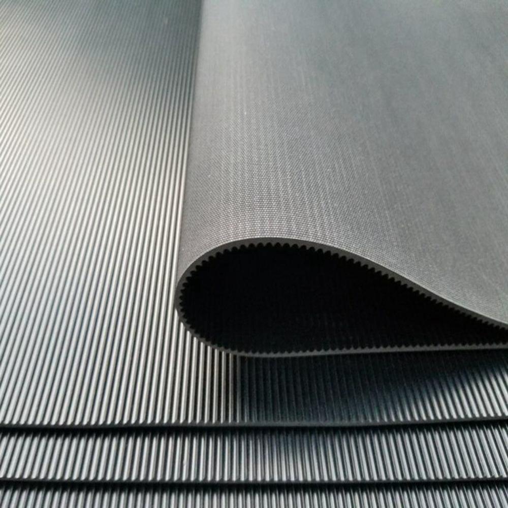Anti-skidding Garage Usage Fine Ribbed Pattern Insulation Black Safety Rubber Mat Sheet