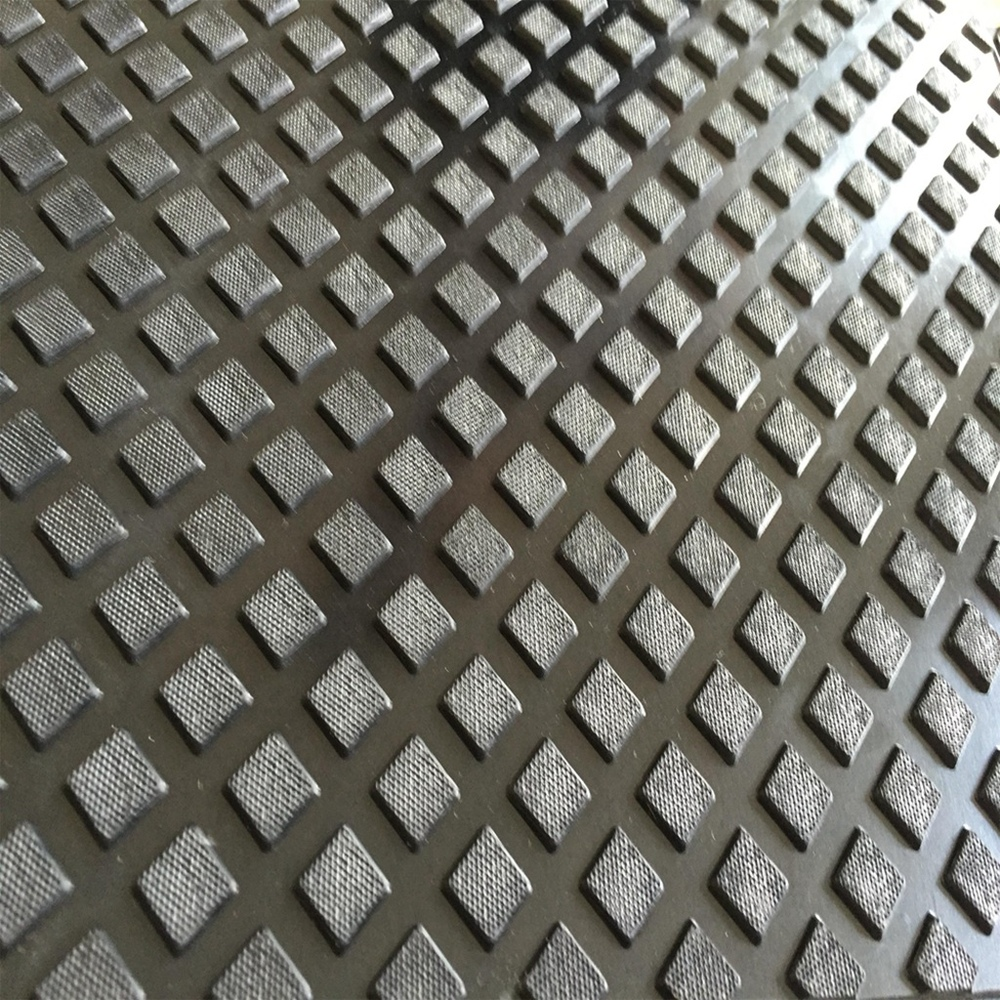 Factory Sale Various Rubber Flooring Anti-fatigue Solid Square Anti-slip Matting