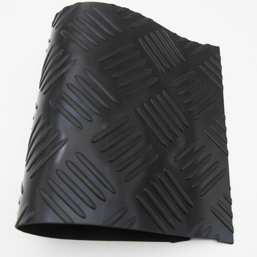 Checker Plate Five Bar Anti Slip Vulcanized Rubber Sheet/Mat