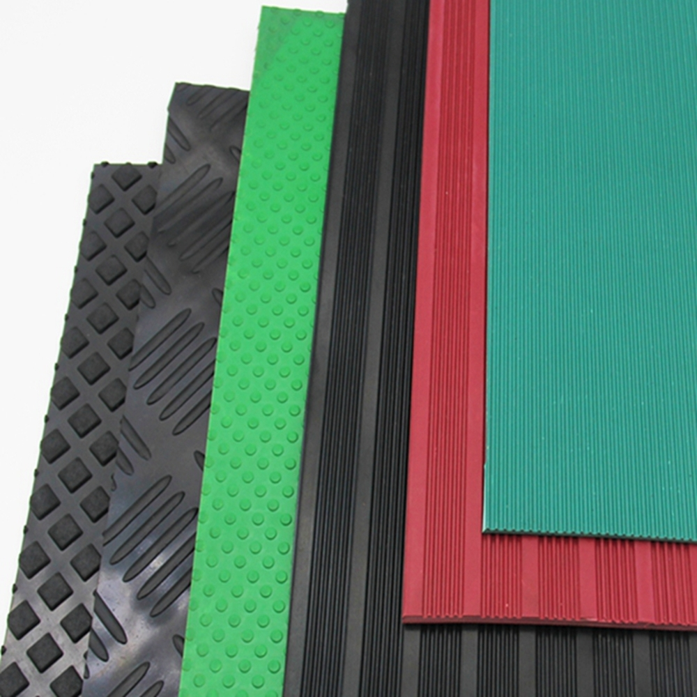 Coin Diamond Checker Ribbed Strip Rubber Sheets Which Have Anti-slip Function in Factory Price