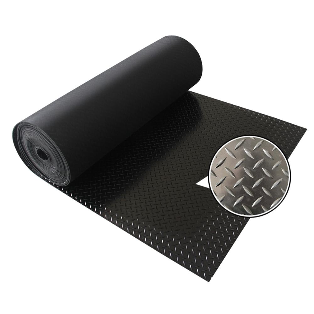 Diamond Tread Willow Leaf Rubber Sheet Commercial SBR Rubber Floor