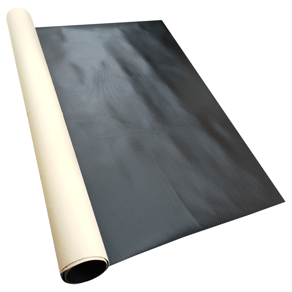Self-adhesive waterproof black PVC vinyl mat