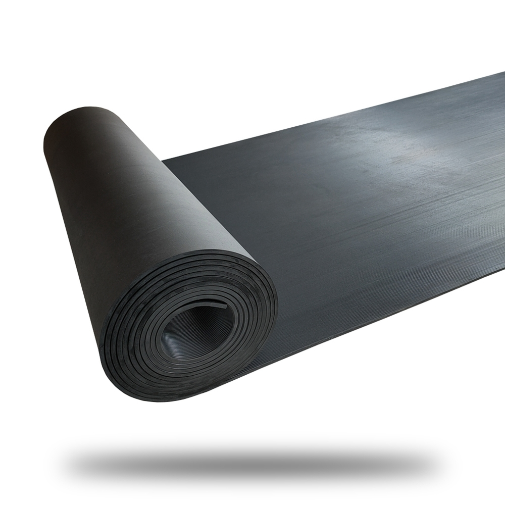Hot sales eco-friendly fine ribbed rubber mat/textured rubber sheet