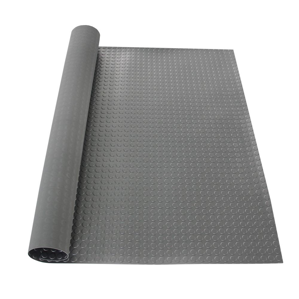 Customized PVC Garage Round Dot Rubber Sheet Rolls Coin Floor Mats