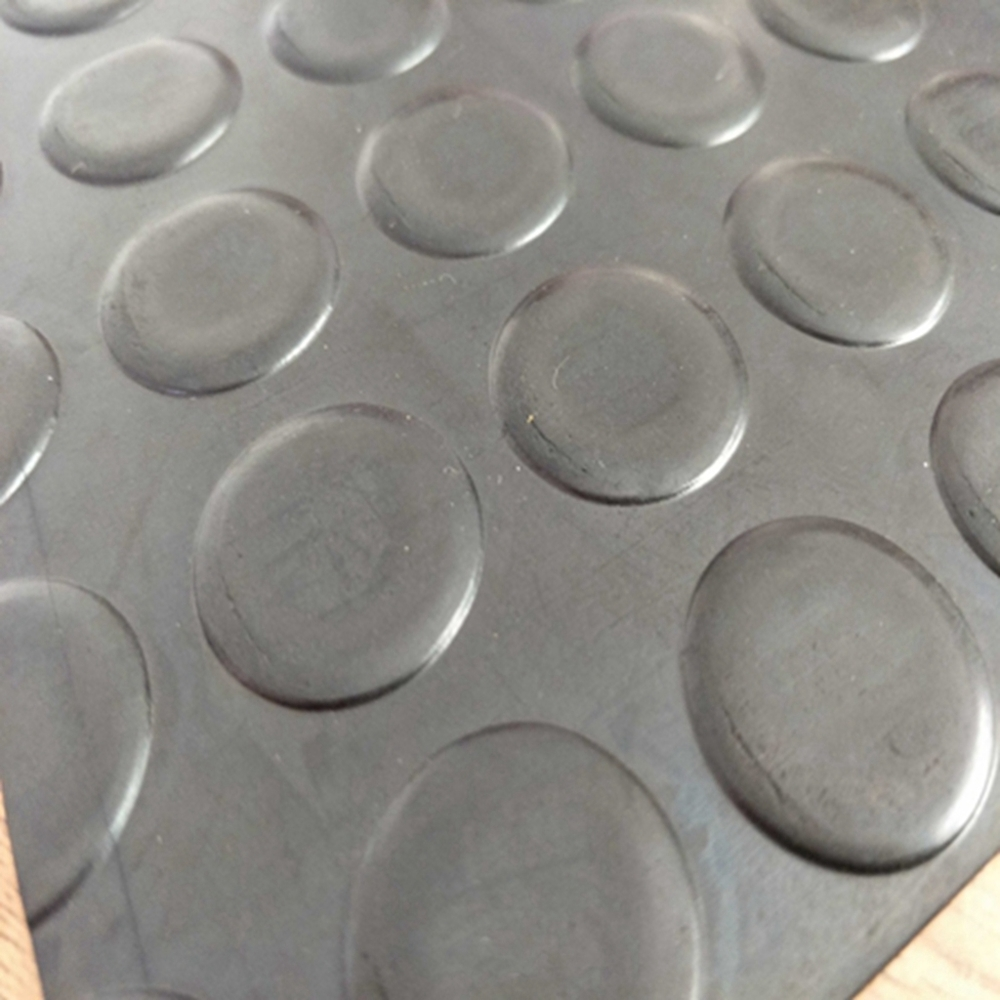 Hot Sale Industrial Vulcanizing 3-10mm Coin Pattern Rubber Mat With Penny Design Garage Rubber Sheet