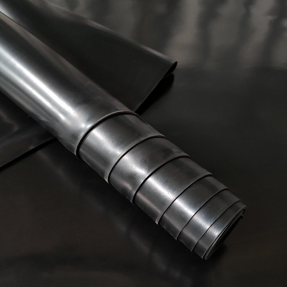Black Color Density 1.6g/cm3 Thin Solid NBR Nitrile Rubber Sheet