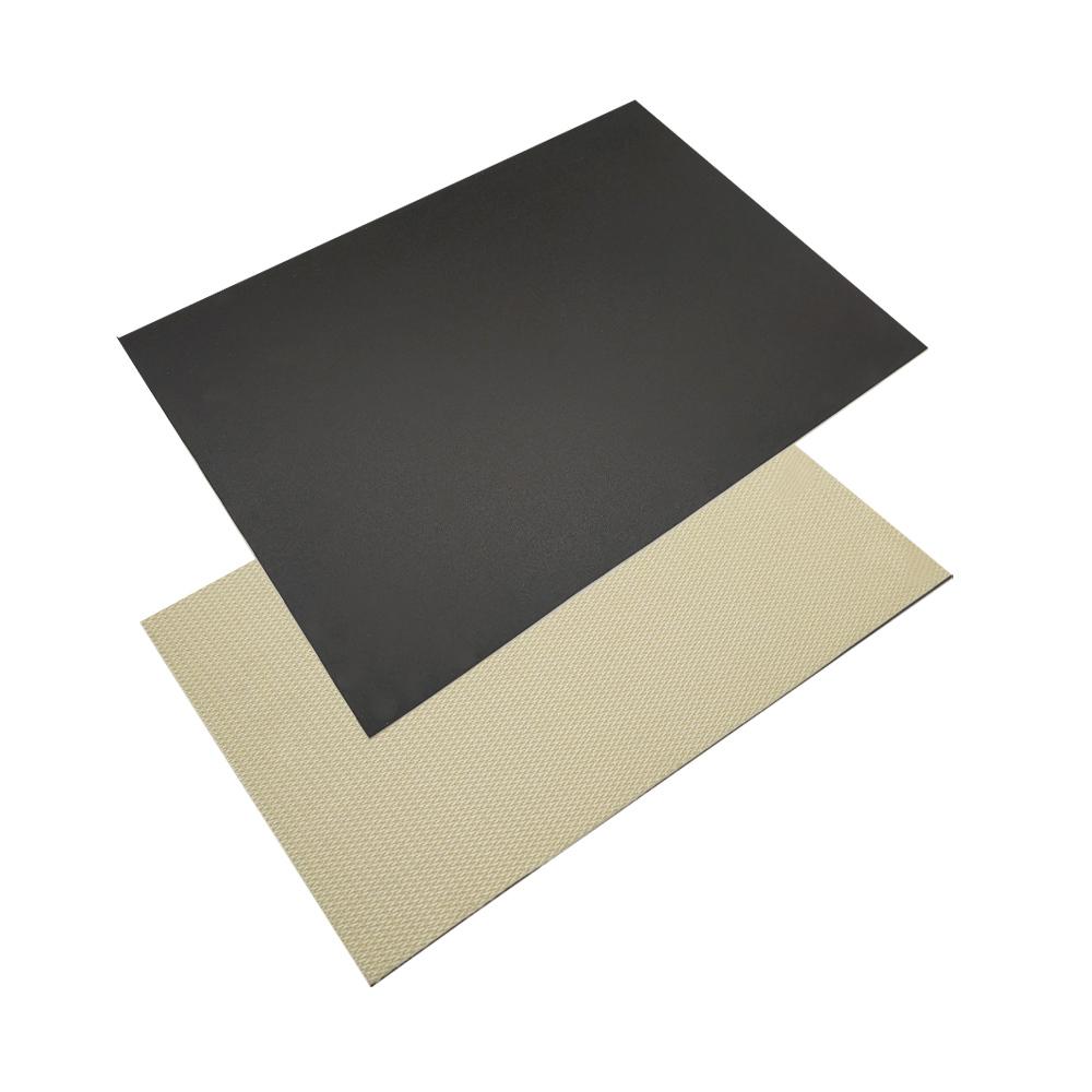 PVC 2.0mm black diamond pattern climbing conveyor belt for food industry