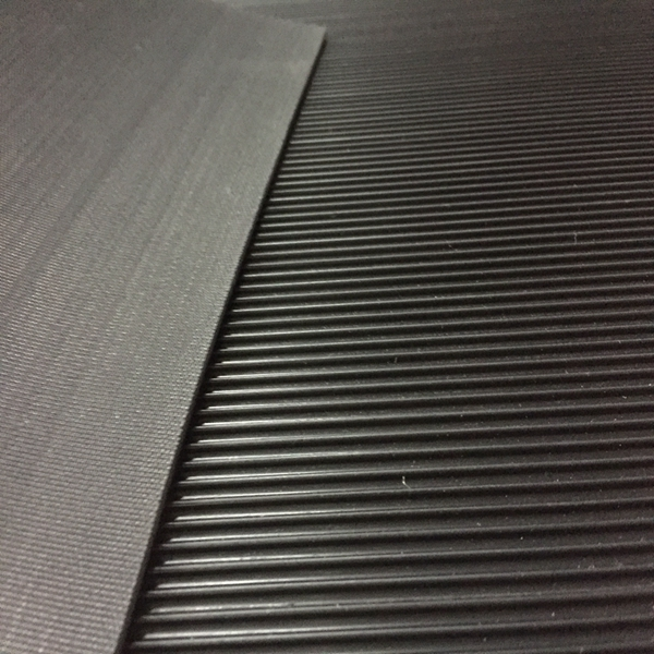 SBR electrical insulation mats anti-slip industry vulcanized 3mm thin fine ribbed rubber sheet