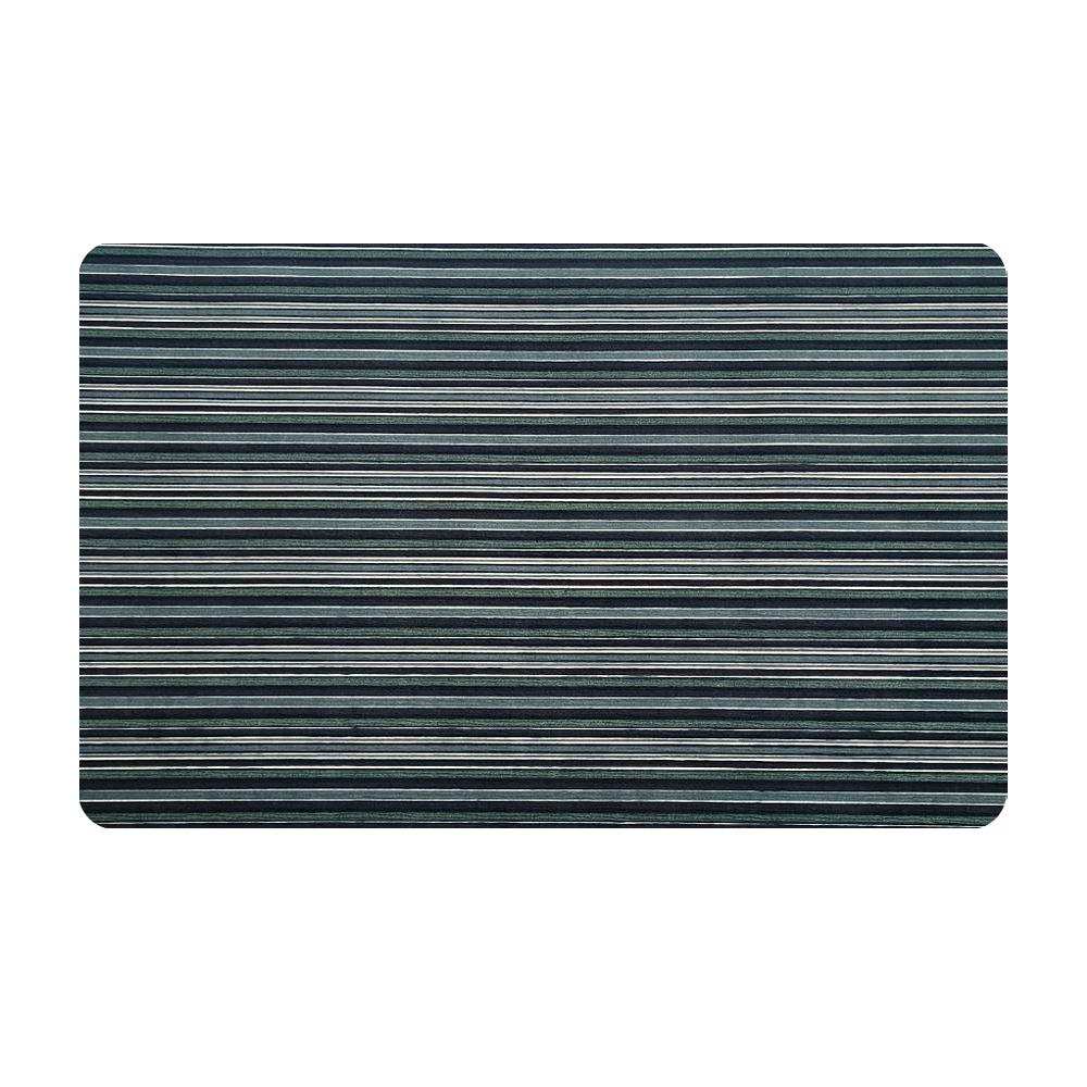Anti-slip durable doormat double striped entrance door mat for kitchen