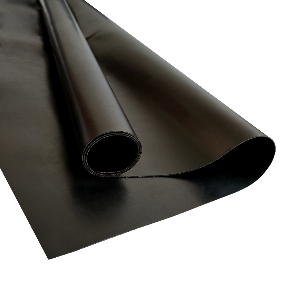 Excellent Quality Nature Black Rubber Sheet With Cloth Insert