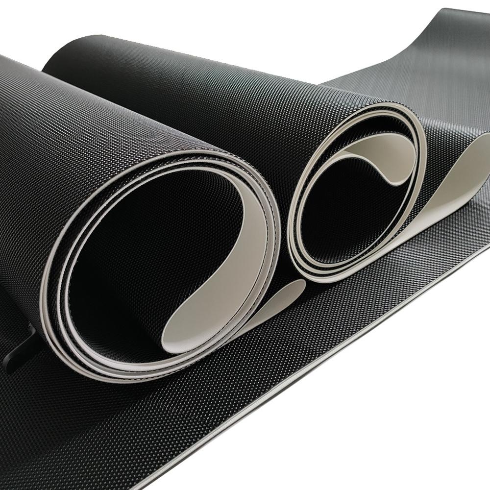 Hot sale black diamond pvc conveyor belt for treadmill walking belt on selling