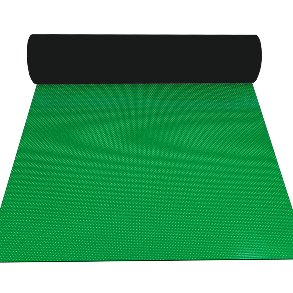 Industrial 3mm green composite ribbed anti-slip rubber floor matting