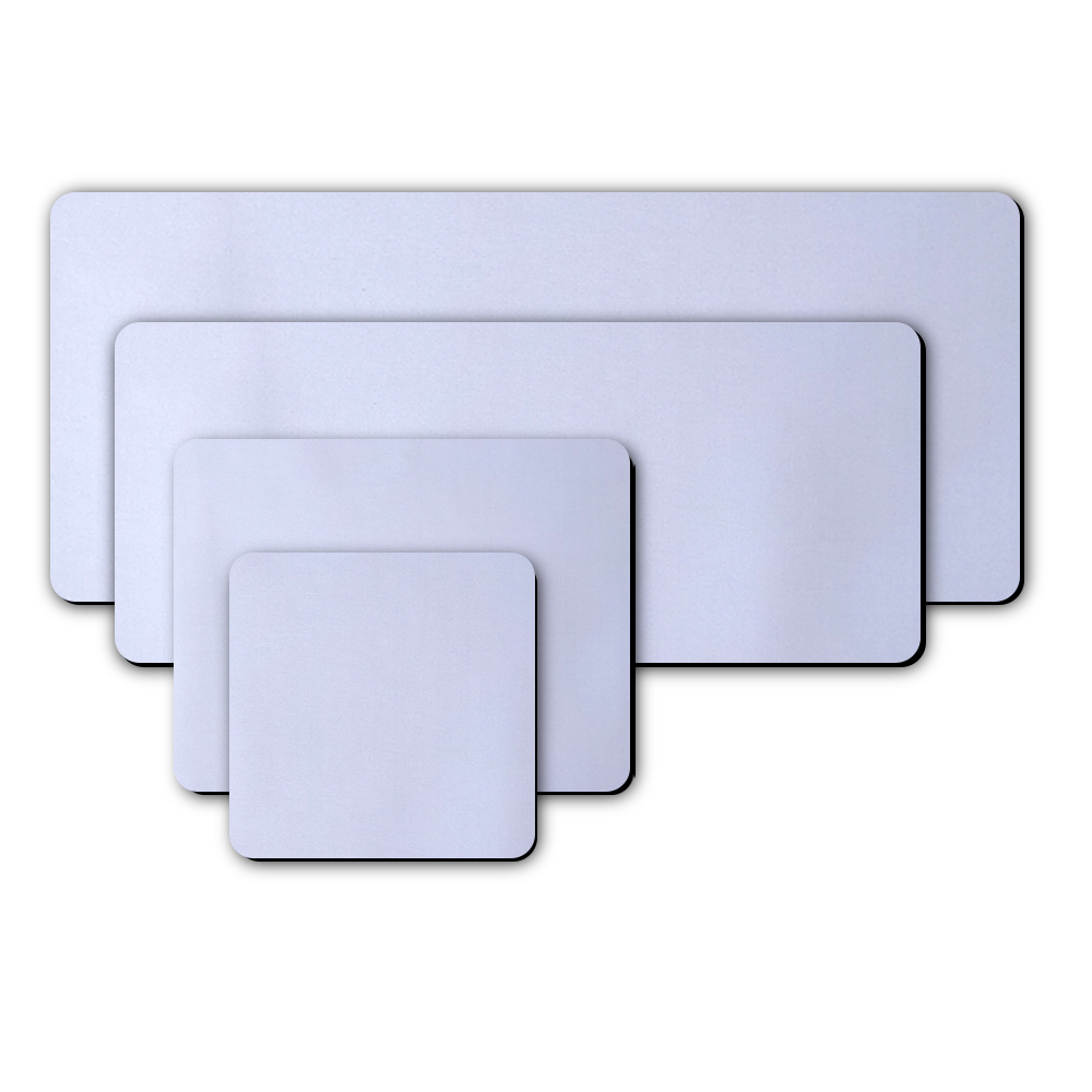 Blank white color rubber mouse pads for sublimation