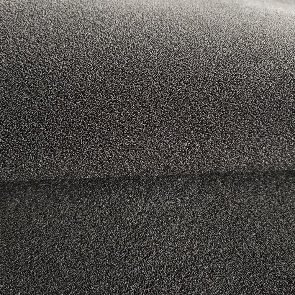 Black ok neoprene fabric hook loop fabric neoprene sheet with one side nylon fabric for neoprene protective gear