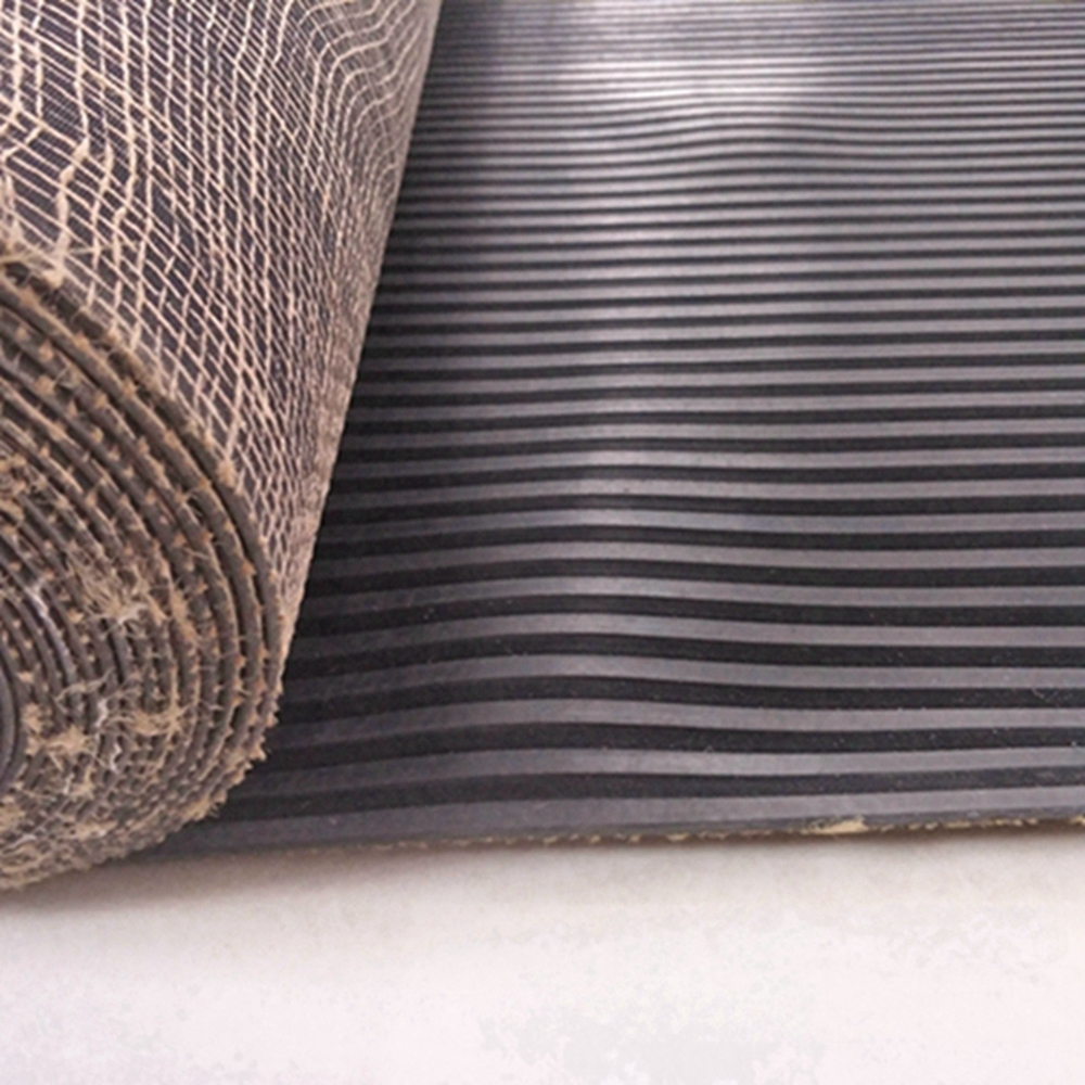 Black neoprene CR cloth insertion rubber sheet with cheap price